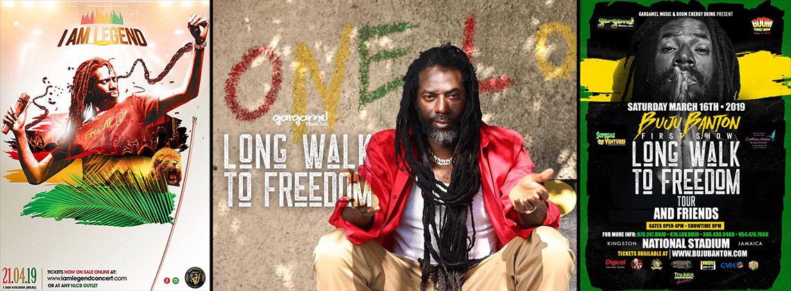 Buju Banton Long Walk To Freedom March 2019